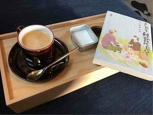BookAndBedTokyo京都店でコーヒーを