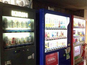 ビジネスホテル加賀の中には自動販売機