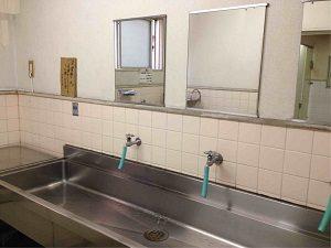 ビジネスホテル加賀の洗面台