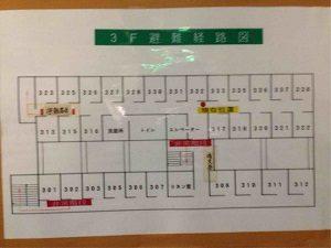ビジネスホテル加賀の1フロアの客室数は多い