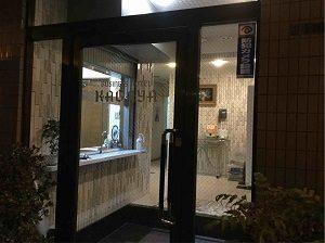 ビジネスホテル加賀舎の入口