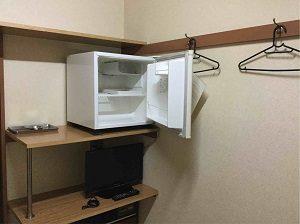 ビジネスホテル加賀舎の客室には冷蔵庫