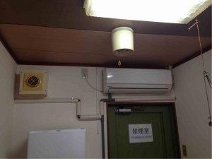 ビジネスホテル和香の個室には個別エアコン