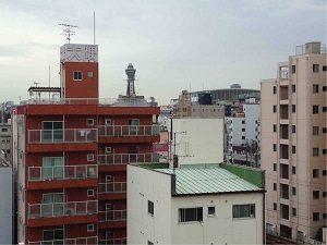 ビジネスホテル和香の屋上から通天閣