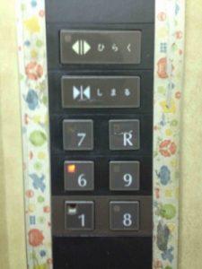 ビジネスホテル来山のエレベーターは階数がやや特殊