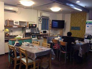 ビジネスホテル来山の共用キッチンスペース