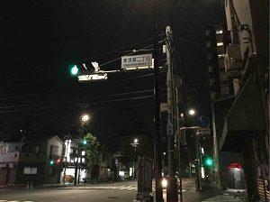ビジネスホテル福田屋は東浅草二丁目の交差点の先