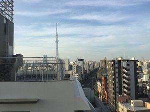 ホテル寿陽の最上階からはスカイツリーも