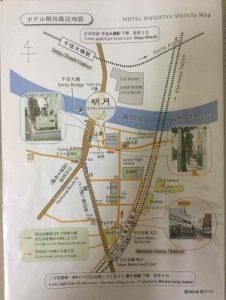 ホテル明月の周辺案内図