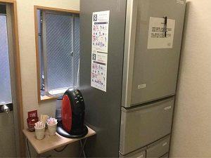 ホテル明月は冷蔵庫が共用