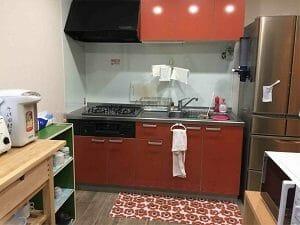 千住田村屋の共用キッチン