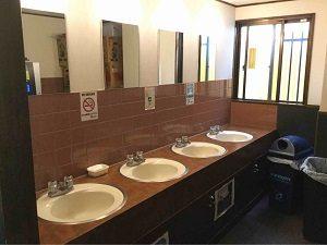 エコノミーホテルほていやの洗面台