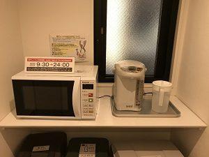 カンガルーホテルSIDE_Bの廊下には電子レンジも