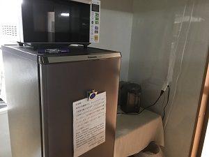 池袋ロッジングの共用冷蔵庫