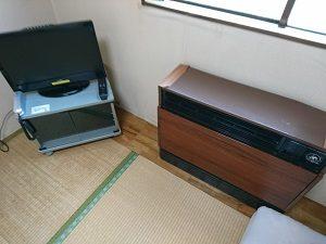 シングル和室にある冷暖房