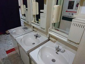 ニュー栃木屋の洗面台