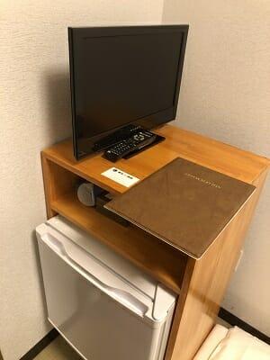 東京SA旅館の和室シングル内の備品