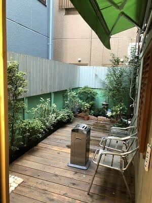 東京SA旅館は全館禁煙なので喫煙スペースがある